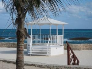 Beachside wedding gazebo